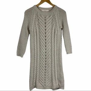 ZARA Chunky Cable Knit Wool Mohair Sweater Dress